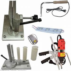 Metal channel letter making sets bending tools slotter for Channel letter making tools