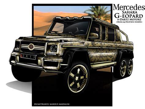 mercedes benz jeep gold dartz dreams up its own mercedes benz g63 amg 6x6