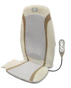 homedics gel shiatsu rolling back massage chair cushion