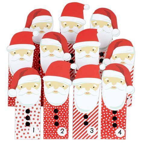 weihnachtsmann selber basteln adventskalender weihnachtsmann mit roten t 252 ten zum aufkleben papierdrachen