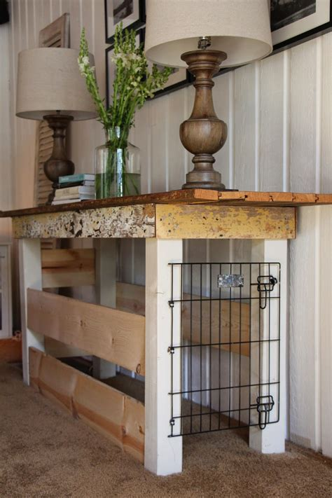 sweet savannah table turned dog kennel