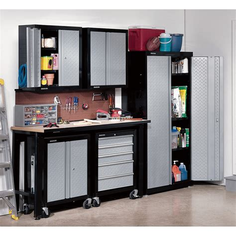 new age storage cabinets furniture black metal garage storage systems decor with