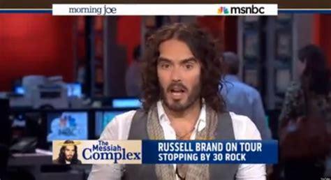russell brand on morning joe russell brand tears msnbc s morning joe team to shreds