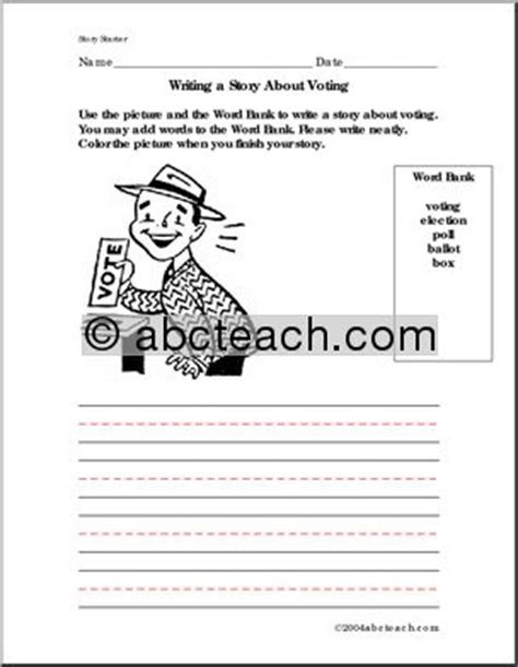 election worksheets for elementary students worksheets for