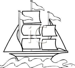 Old Sailboat Outline by Tales From The Traveling Art Teacher Summer Workshop