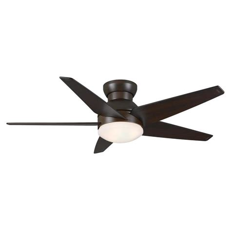 flush ceiling fan with light shop casablanca isotope 44 in brushed cocoa flush mount