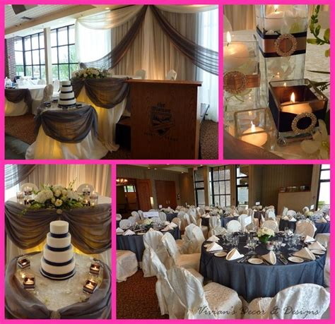 navy burlap wedding   themanorweb21 Castor Grey, Navy Blue & Bling @ The Manor in Kettleby   It