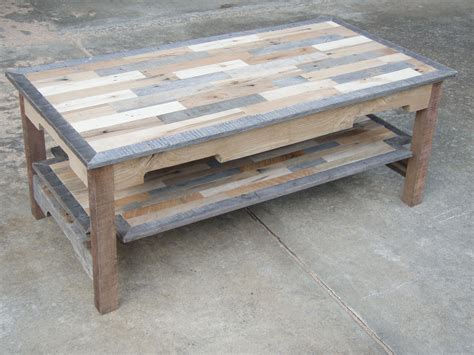 We offer custom coffee tables which are made to order just for you. Handmade Reclaimed Pallet Wood Coffee Table by All for Knot Woodworking   CustomMade.com