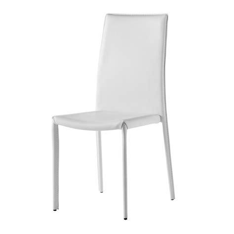 chaise design simili cuir blanc gold