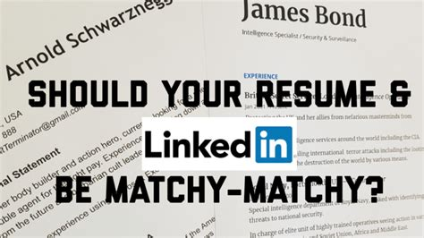 Access knowledge, insights and opportunities. Should your resume and LinkedIn be matchy matchy ...