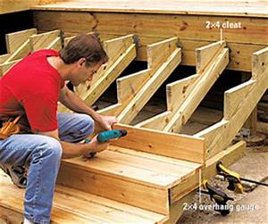 Building Deep and Wide Stairs - Multi Level Decks - How to