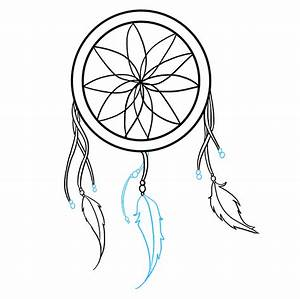 How to Draw a Dream Catcher - Really Easy Drawing Tutorial