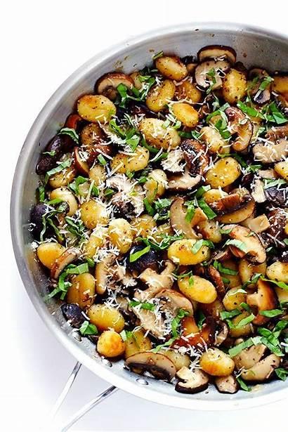 Gnocchi Mushrooms Recipes Fried Parmesan Mushroom Basil