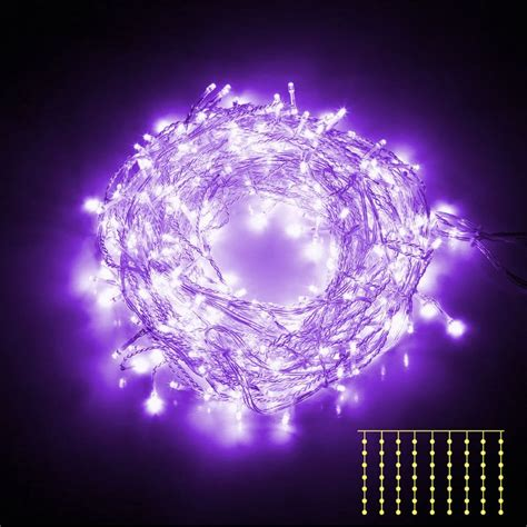 600 bright curtain led christmas lights in purple buy