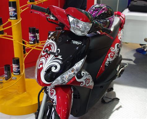 Modifikasi Mio J Merah by Modifikasi Motor Matic Mio J Warna Merah Galeri Gambar
