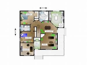 plan de maison et ou plan de rnovation de type plain pied With plan de belle maison