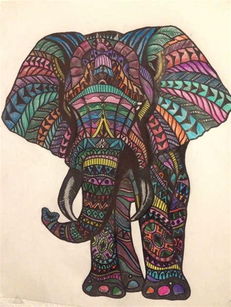 elephant colored pencil drawing elephant elephant