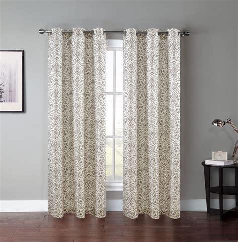 pair of atlantis window curtain panels w grommets