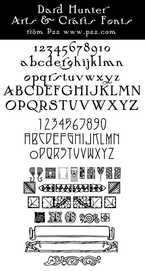 arts crafts p fonts dlynn waldron