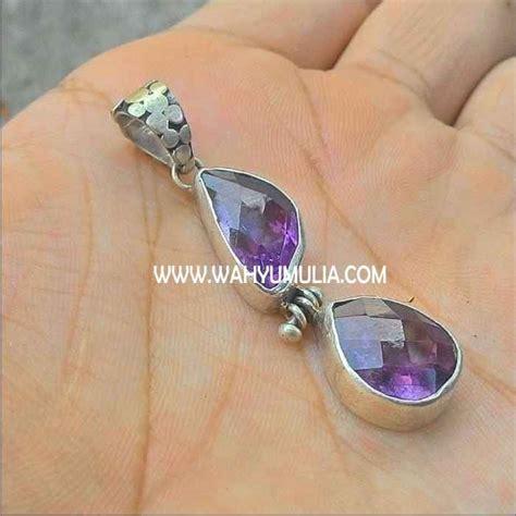 batu mulia kecubung bintang liontin batu kecubung ungu amethyst kode 296 wahyu mulia