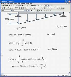 Load Shear Moment Diagram With Mathcad Avi