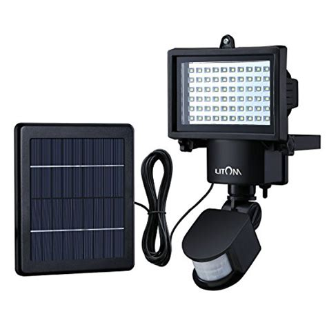 litom bright  led solar lights outdoor solar security