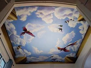 L STAR MURALS: Ceiling mural with birds, Chicago, IL