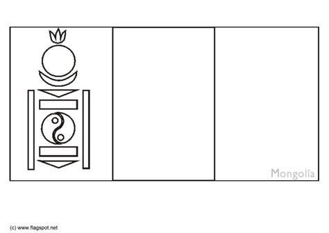 coloring page flag mongolia img  images