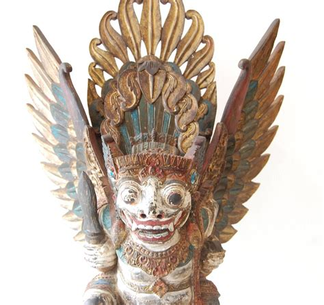 unknown barong wood sculpture bali  century
