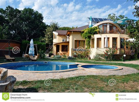 house with swimming pool stock image image of building