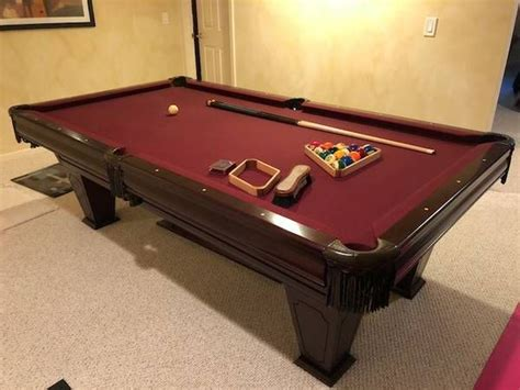 pool table supplies charlotte nc used 8 39 brunswick ventura pool table at everything