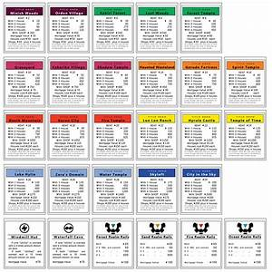 Monopoly Game Cards Template