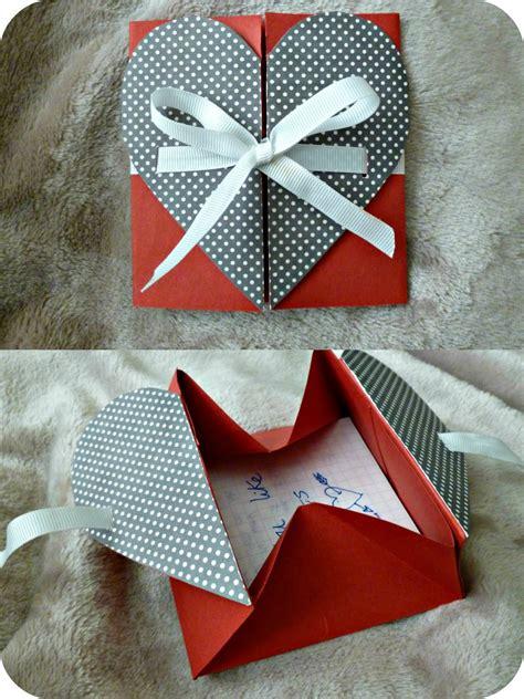 origami heart envelope origami letter diy gift box