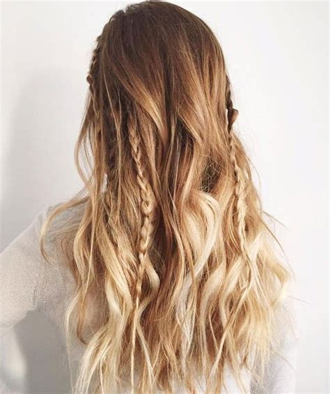 add a few mini braids to your beach waves to nail this