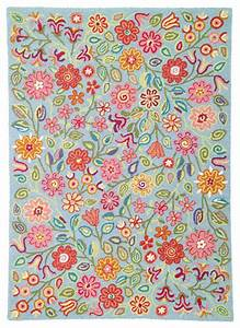 Company c wool rug april blooms eclectic kids rugs for Kids carpet designs