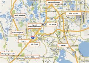 Disney World Orlando Florida Area Map