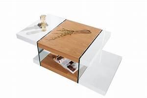 Table Basse Blanc Laqué Et Bois : table basse bois et blanc laqu 13 id es de d coration int rieure french decor ~ Teatrodelosmanantiales.com Idées de Décoration
