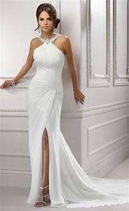 simple elegant halter wedding dress for older brides over With elegant wedding dresses for mature brides