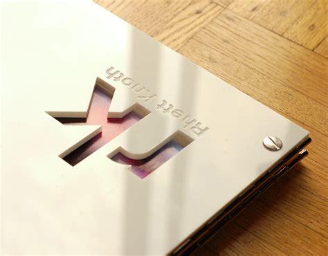 Interior Designer Portfolio Book 11 X 14 White Acrylic