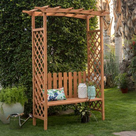 Garden Bench With Trellis by 6 9 Ft Wood Arbor Outdoor Patio Bench Garden Pergola