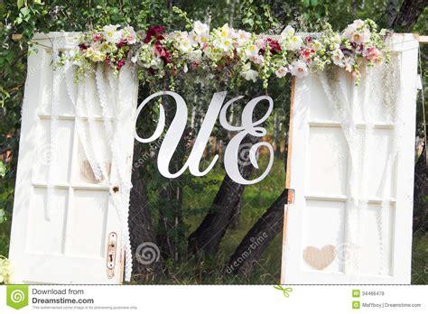 Wedding Arch Stock Image Image Of Decorations Purple