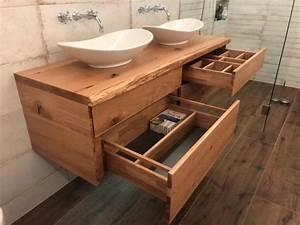 Waschtisch Holz Rustikal : waschtischunterschrank aus holz rustikal massiv eiche waschtisch unterschrank holz ~ Frokenaadalensverden.com Haus und Dekorationen