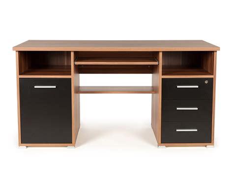 bureau informatique bois massif bureau informatique avec caisson tiroirs niches en bois
