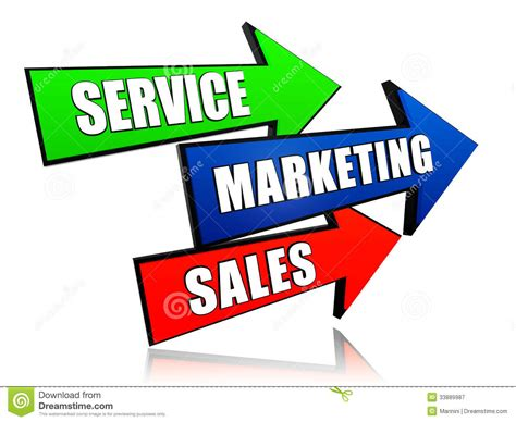 Marketing Sales by Service Marketing Sales In Arrows Royalty Free Stock
