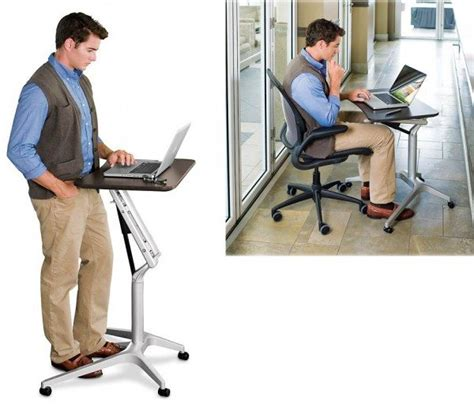 levenger desk stand levenger s compact laptop work station converts to a