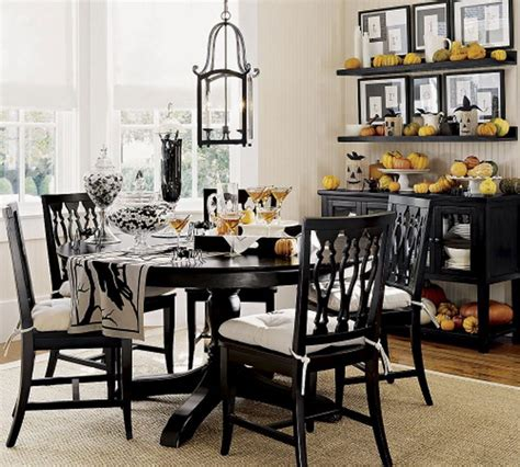 Furniture Black Round Dining Table Room Design Round