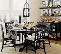 dining room decor Furniture: Black Round Dining Table Room Design Round ...