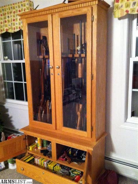 Gun Cabinets For Sale by Armslist For Sale Custom Gun Cabinet Solid Oak