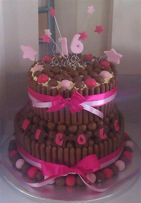 Birthday is come once in year. Double Tier, 16th Birthday Cake (for nicole) Choc-chip ...