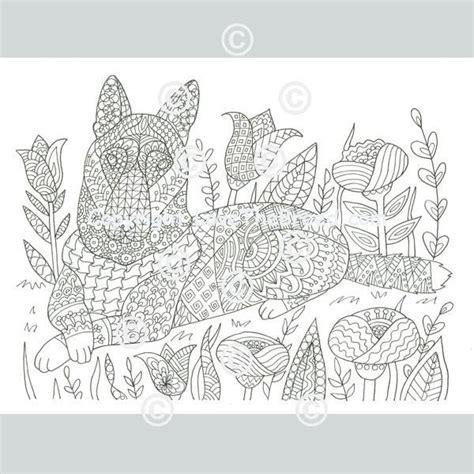 german shepherd coloring book  adults  children volume  lovethebreedcom